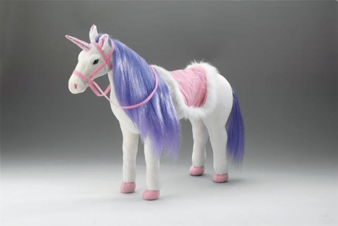 Happy People Spielzeug Pferd Einhorn in weiß, mit Sound, Kopfhöhe ca. 65 cm ohne Extras
