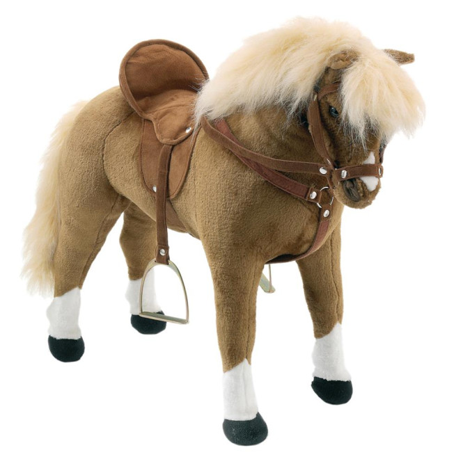 Happy People Spielzeug Pferd, Haflinger, mit Sound, Sattel und Zaumzeug, Sattelhöhe ca. 51 cm ohne Extras