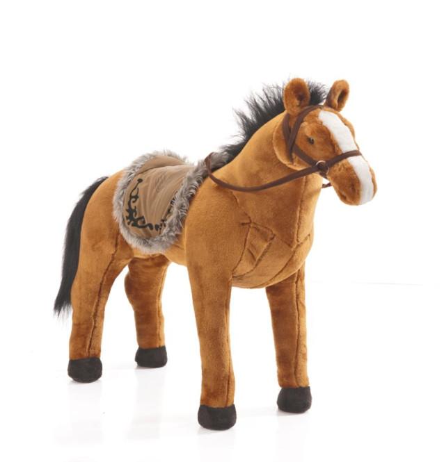 Happy People Spielzeug Pferd in rotbraun, mit Sound, Sattelhöhe ca. 55 cm ohne Extras