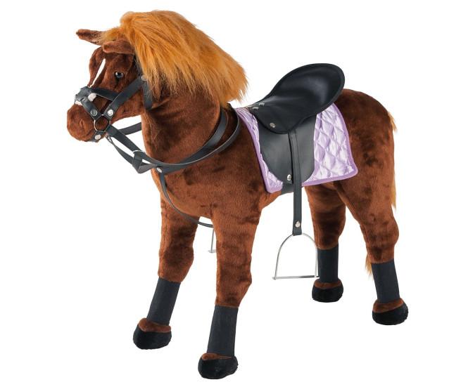 Happy People Spielzeug Pferd, Springpferd, mit Sound, Sattel und Zaumzeug, Sattelhöhe ca. 55 cm