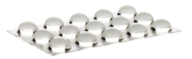 homeXpert 15 Stück Schutzpuffer CLEAR Linse, Anschlagpuffer, Möbelpuffer, Anschlagdämpfer, transparent, selbstklebend, Ø 16,0 mm, Höhe: 7,9 mm