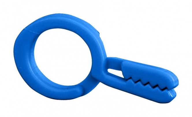 homeXpert Aufhänger, Ringklemme bunt sortiert, Länge 45 mm