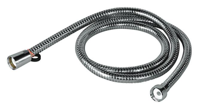 homeXpert Metall Brauseschlauch 150 cm, Modell AGRAFF 150, 1/2 Zoll mit Drehkonus, verhindert Verknoten des Duschschlauches 1500