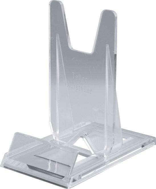 10 homeXpert Telleraufsteller, Tellerständer, Tellerhalter, transparent, 7 cm breit, 12 cm tief, 12 cm hoch, für Teller von Ø 13 bis 40 cm für Teller Ø 13 bis 40 cm | Anzahl: 10 Stück