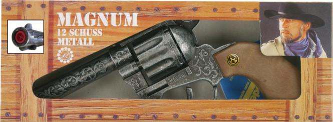 J.G.Schrödel Magnum antik 22cm, 12-Schuss Pistole, Box