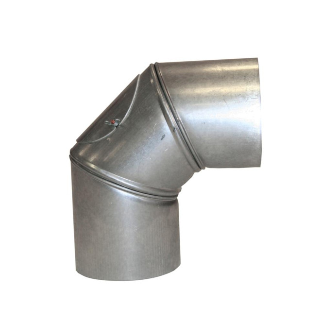 KaminoFlam® FAL (feueraluminiert) Uni-Knie für Ofenrohre 120 mm mit Tür