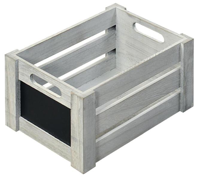 Kesper Aufbewahrungsbox aus Paulowniaholz, 26,5 x 16,5 x 13,5 cm, in Antik-Optik, FSC-zertifiziert, beschreibbare Fläche