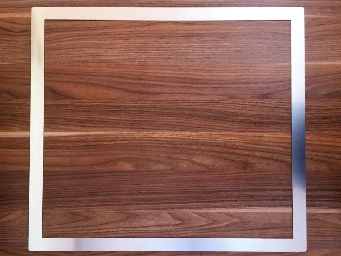 Kochfeld Adapterrahmen aus Edelstahl, 62,2 x 55,2 x 0,1cm Rahmenbreite 30 mm