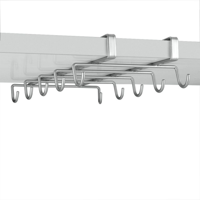 Metaltex MyMug Schrankeinsatz Halterung für 10 Tassen, aus Metall m. Polytherm-Beschichtung