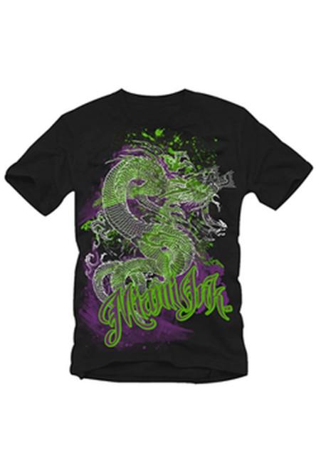 Miami Ink T-Shirt Dragon Schwarz Größe S
