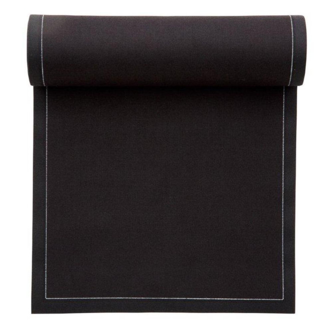 MYdrap Baumwoll Cocktail-Servietten 11 x 11 cm, schwarz, 50 Stück pro Rolle Anzahl: 1 Rolle