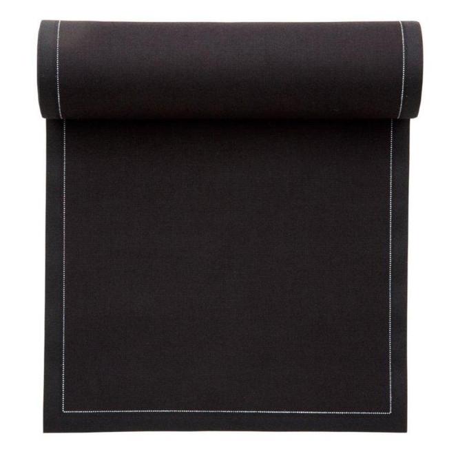MYdrap Baumwoll Lunch-Servietten 20 x 20 cm, schwarz, 25 Stück pro Rolle schwarz | Anzahl: 1 Rolle