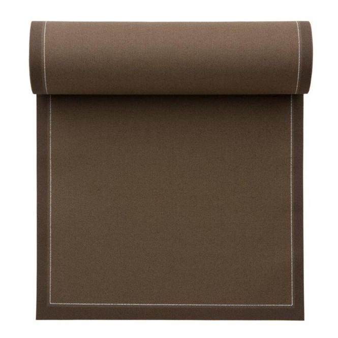 MYdrap Baumwoll Lunch-Servietten 20 x 20 cm, taupe/hellbraun, 25 Stück pro Rolle Anzahl: 1 Rolle