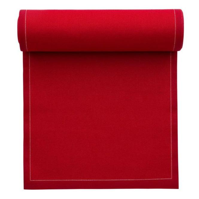 MYdrap Baumwoll Lunch-Servietten 20 x 20 cm, karminrot, 25 Stück pro Rolle karminrot | Anzahl: 1 Rolle