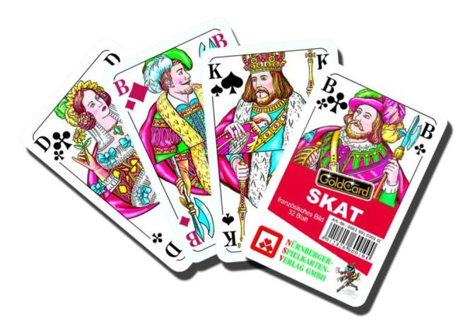 Nürnberger Spielkarten Skat Classic französisches Bild im Klarsichtetui