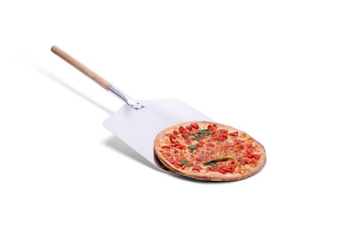 Pizzaschaufel aus Aluminium/Holz, 35,5 x 30,5cm, Stiel 43cm