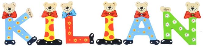 Playshoes Kinder Holz-Buchstaben Namen-Set KILIAN - sortiert