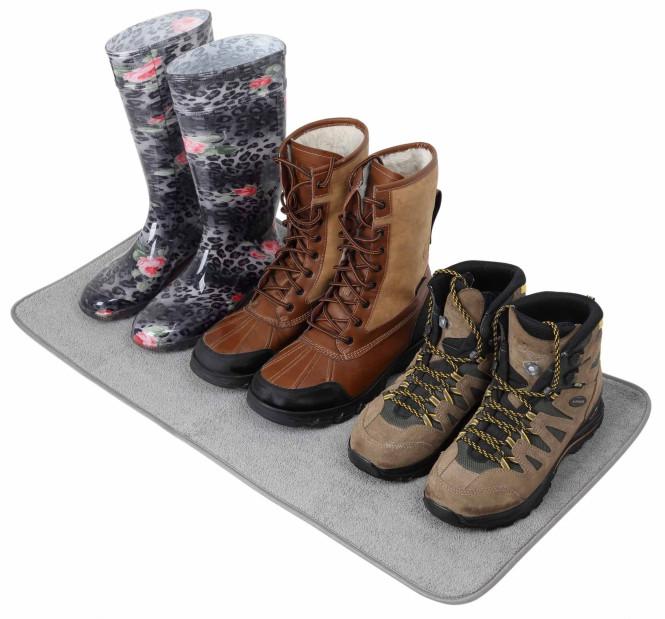 purclean Fußmatte, Schuhmatte, Schmutzmatte, 40 x 80 cm, grau grau