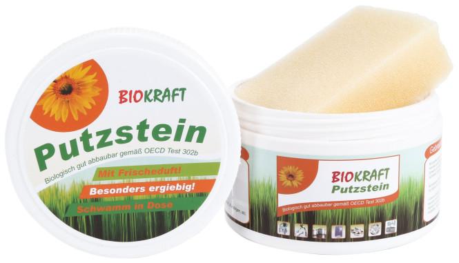 purclean Putzstein, Allzweckreiniger für Bad, Küche und Haushalt, 400 g Inhalt, mit Schwamm