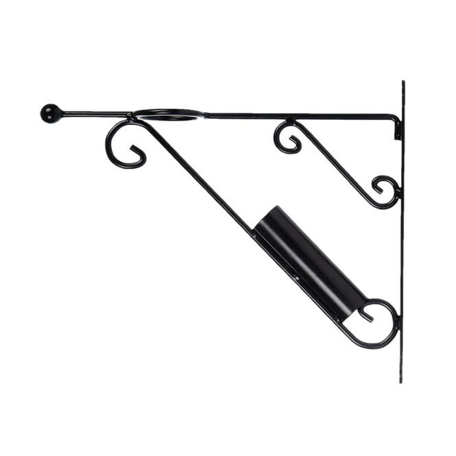 Rivanto® Fahnenmasthalter mit Aufhänge-Haken, Innen Ø 3,6 cm, Eisen