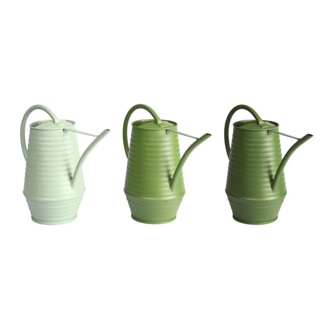 Rivanto® Grüntöne Serie Indoor Gießkanne mit großem Griff, farbig sortierte Grüntöne, hellgrün/grün/dunkelgrün, Farbwahl nicht möglich