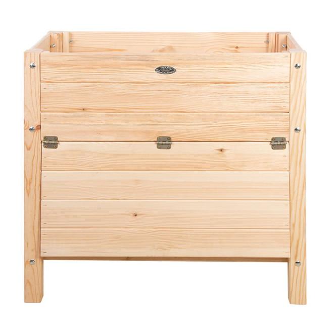 Rivanto® Hochbeet mit Aufbewahrungsfach, 65 Liter, 40 x 79 x 78 cm, FSC-Kiefernholz, stabiler Stand
