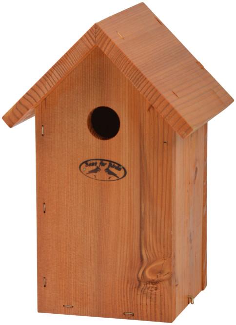 Rivanto® Nistkasten Blaumeise 14 x 17 x H26 cm, Vogelhaus lasiert Anzahl: 1 Stück