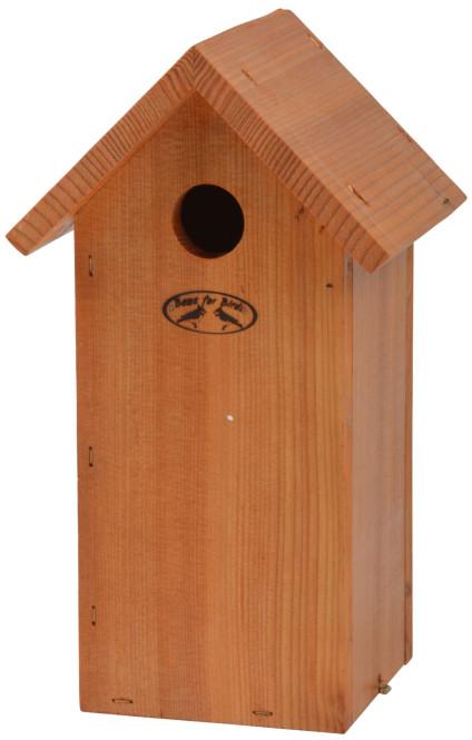 Rivanto® Nistkasten Kohlmeise 14 x 17 x H30 cm, Vogelhaus lasiert Anzahl: 1 Stück