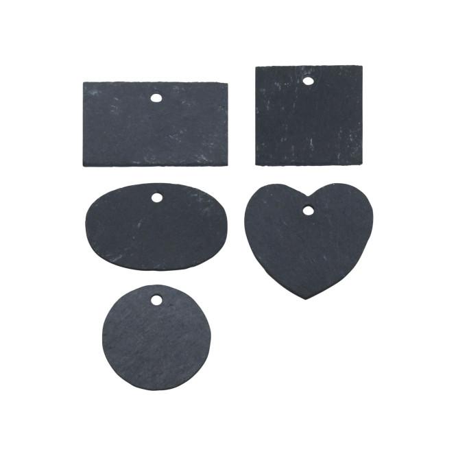 Rivanto® Schiefer Pflanzschild S sortiert aus Schiefer, 8,1 x 0,5 x 5/ 7,9 x 0,5 x 5/ 7,2 x 0,5 x 6,8 / 6 x 0,5 x 6/ 6 x 0,5 x 6cm,