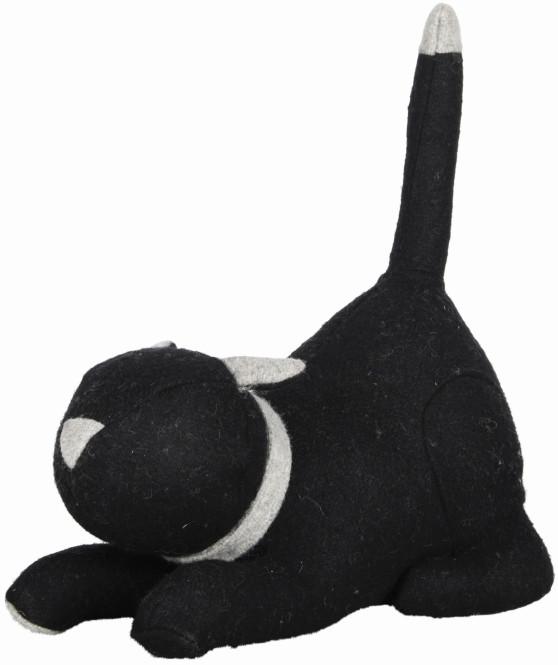 Rivanto® Türstopper Katze, ca. 1,5 kg, in schwarz, mit aufgestelltem Schwanz, lustiger Türkeil, 26,4 x 14,2 x 30,5 cm Anzahl: 1 Stück
