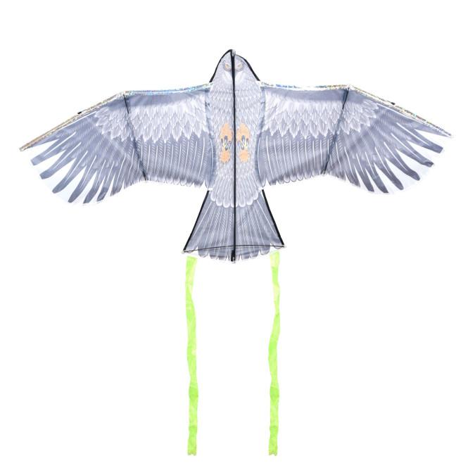 Rivanto® Vogelschreck- Drache mit Adler-Motiv, Raubvogel-Flugdrachen aus Polyester/Glasfaser/Metal, 137,4 x 40 x 69cm,
