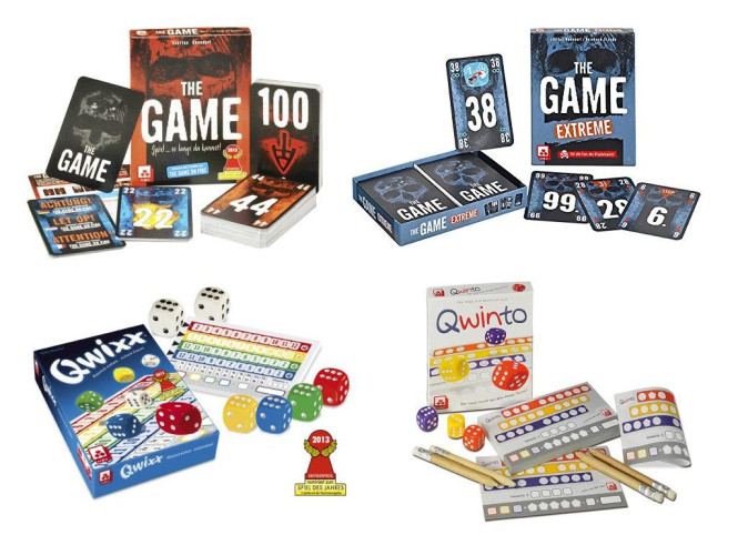 Spiele-Set QWIXX, QWINTO, THE GAME und THE GAME EXTREME