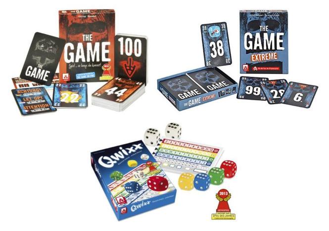 Spiele-Set QWIXX Würfelspiel, THE GAME und THE GAME EXTREME