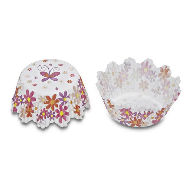 Städter Papierbackform für Muffins, bunte Blumen mini, Boden Ø 3,5 cm, Höhe 2,2 cm 100 Stück