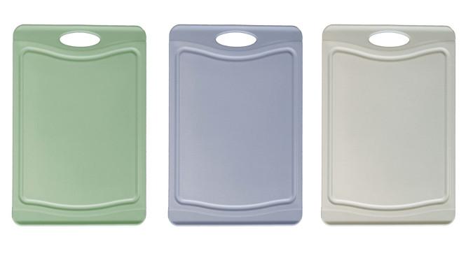 Steuber 3er Schneidebrett Set mit Saftrinne, 3 Farben, 37 x 25 cm, beidseitig verwendbar, messerschonend, Anti-Rutsch-Oberfläche