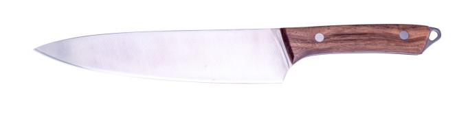 Steuber BBQ Chefmesser, Küchenmesser mit scharfer Edelstahlklinge, Gesamtlänge 33
