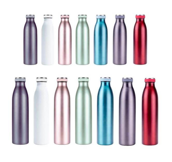 Steuber Edelstahl Thermo Trinkflasche Größe und Farbe wählbar, doppelwandige Isolierflasche mit auslaufsicherem Deckel