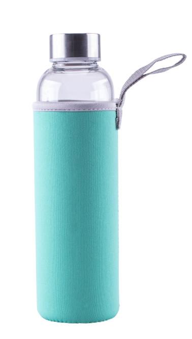 Steuber Glas-Trinkflasche m. Schutzhülle, 550 ml, türkis türkis   Anzahl: 1 Stück