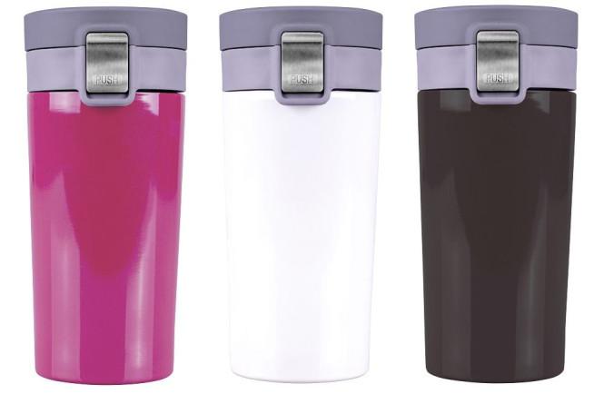 Steuber Kaffee Thermobecher mit Klickdeckel, 400 ml, Edelstahl, Farbe wählbar