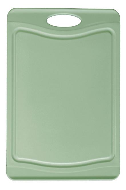 Steuber Schneidebrett mit Saftrinne, 37 x 25 cm, beidseitig verwendbar, messerschonend, Anti-Rutsch-Oberfläche, grün 36,8 x 25,4 cm   Pastell-grün