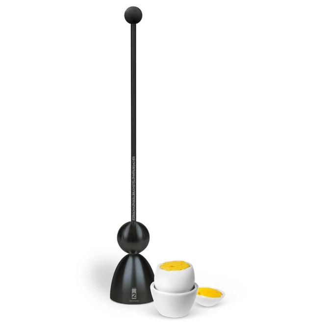 Take2 Clack Black Edition Eierschalensollbruchstellenverursacher, Eierköpfer mit schwarzem Keramikkopf