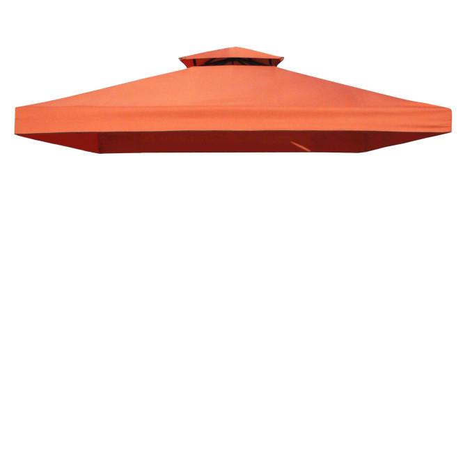 Testrut Ersatzdach für Pavillon Livorno, original Ersatzteil, 3 x 3 m, PU-beschichtet, wasserabweisend, UV-Schutz 50+, in terracotta