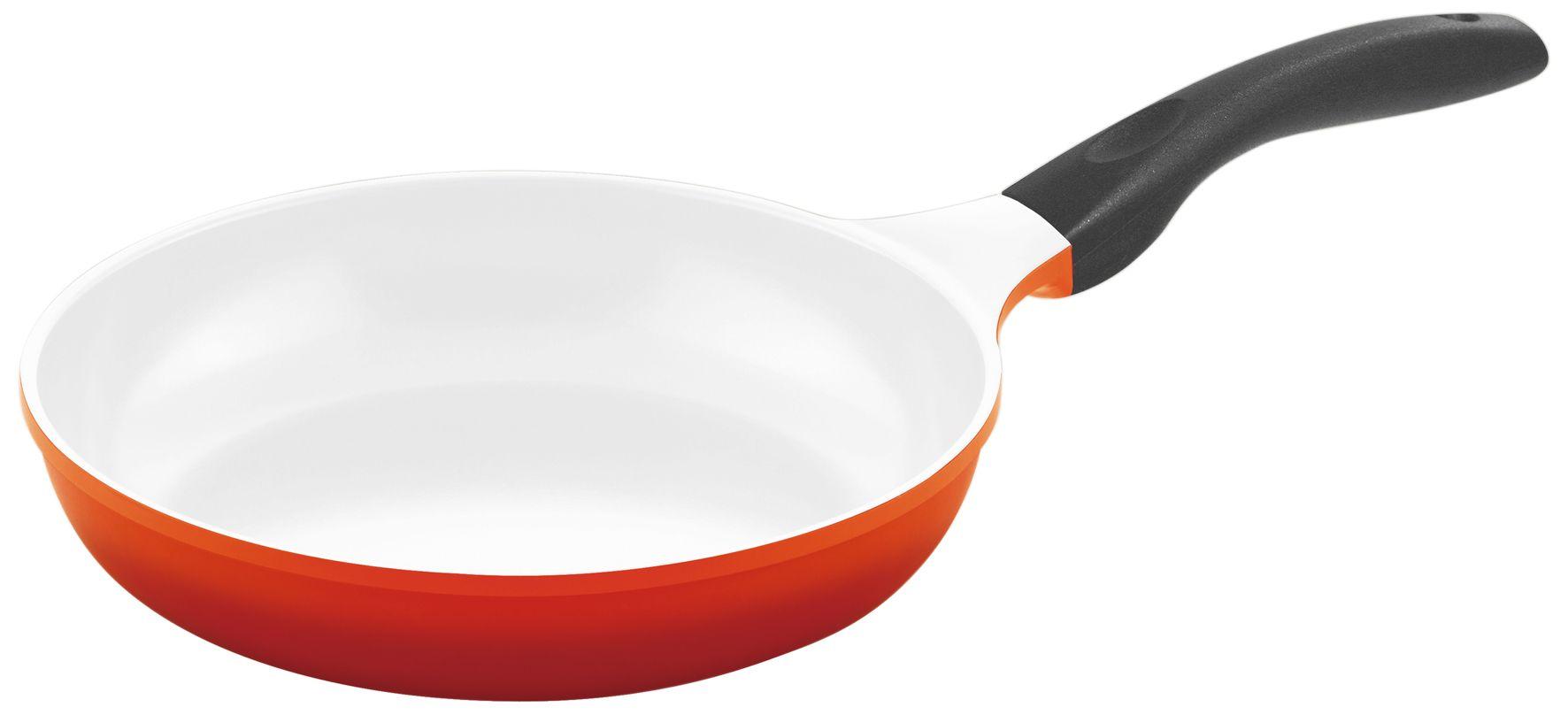 culinario pfanne mit keramikbeschichtung 24 cm in rot f r induktionsherd geeignet m