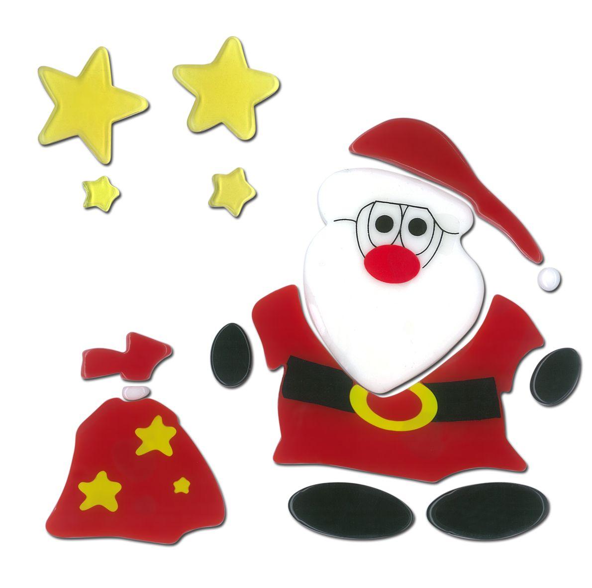 magicgel fensterbilder weihnachten  nikolaus mit sack 18