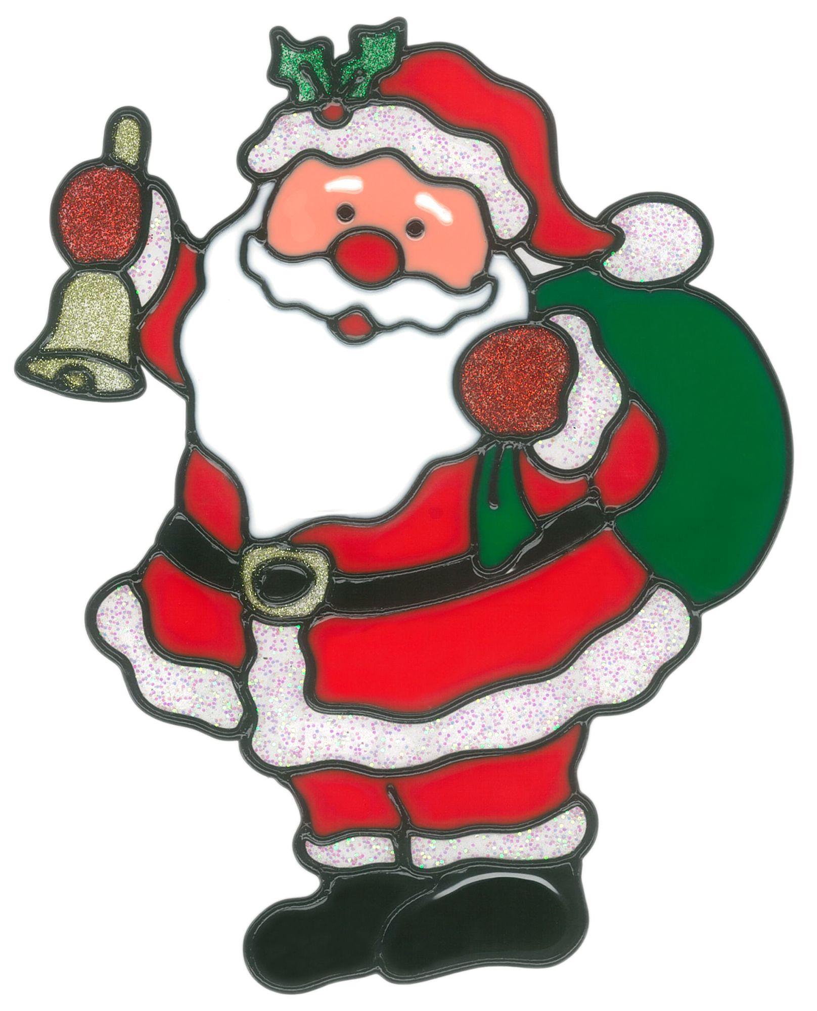 magicgel fensterbilder weihnachten  nikolaus mit sack 19