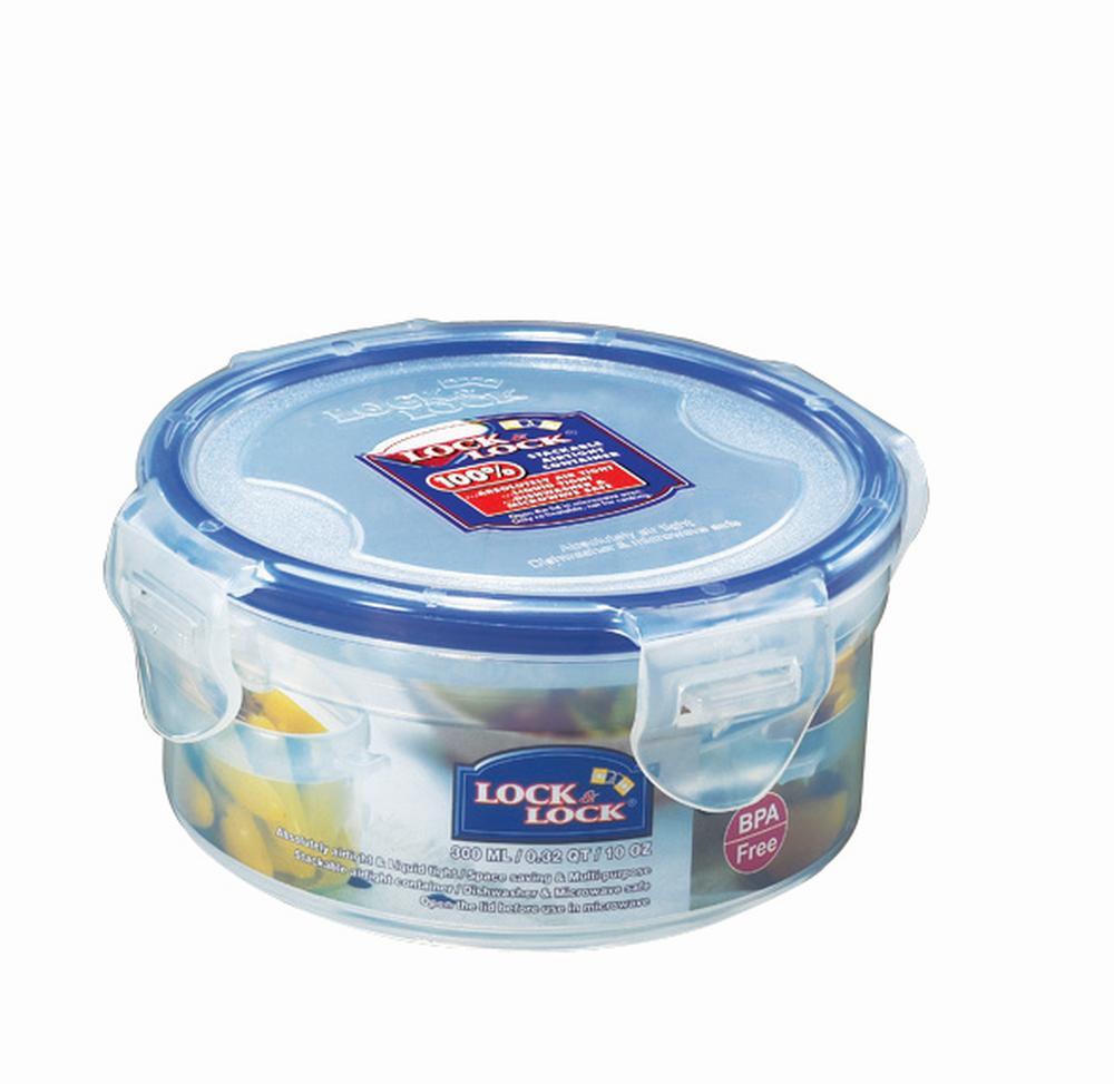 Lock & Lock Frischhaltedose, Vorratsbox, Vorratsdose, rund, Kunststoff transparent, in verschiedenen Größen erhältlich